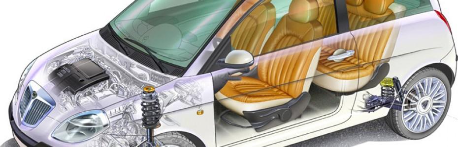 Estructura interior coche