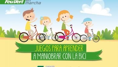 Juegos con la bici para niños