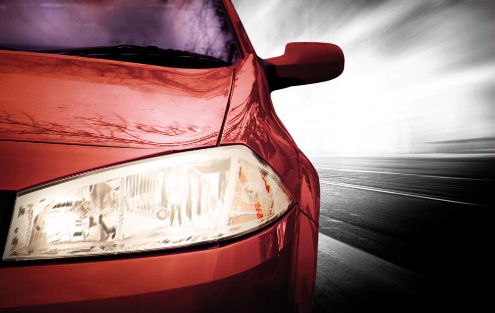 coche luz de cruce
