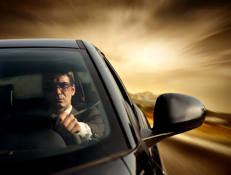Conductor gafas sol