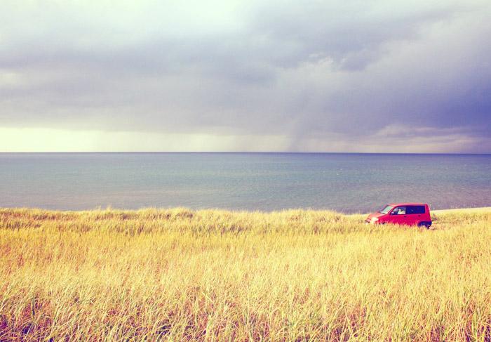 tormenta de verano coche