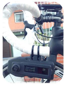 Dispositivo láser de manillas de bicicletas