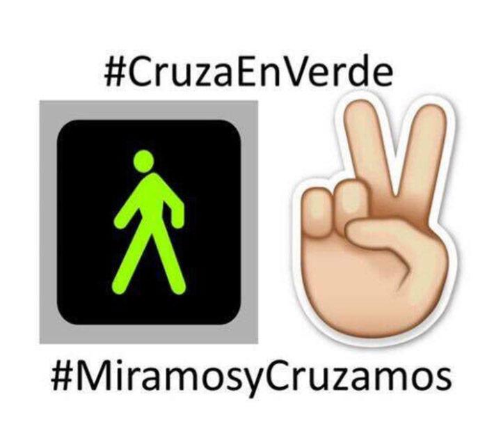 #cruzaenverde#miramosycruzamos