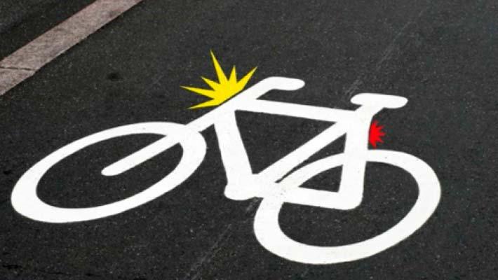 dinamarca luz pictograma bici