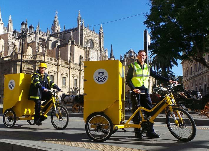correos en bici e-cargo