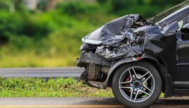 coche tras accidente siniestralidad 2018