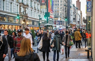 peatones distraidos nueva york