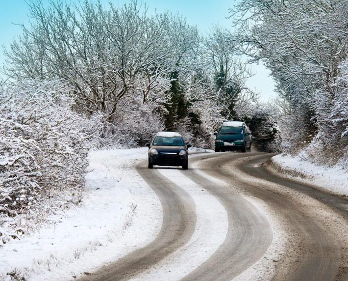 Seguridad Vial en invierno =  Prevención + Prudencia