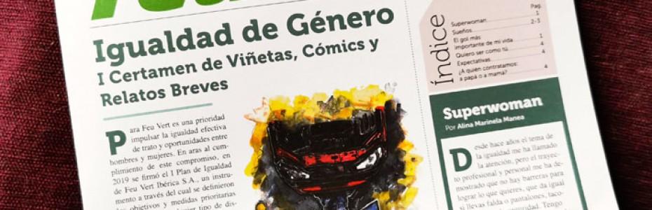 Feu Vert promociona la Igualdad de Género con el I Certamen de Viñetas, Cómics y Relatos Breves