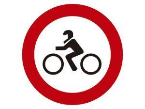 prohibido acceso motocicletas