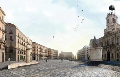 Puerta del Sol: El Kilómetro Cero ya es 100% peatonal