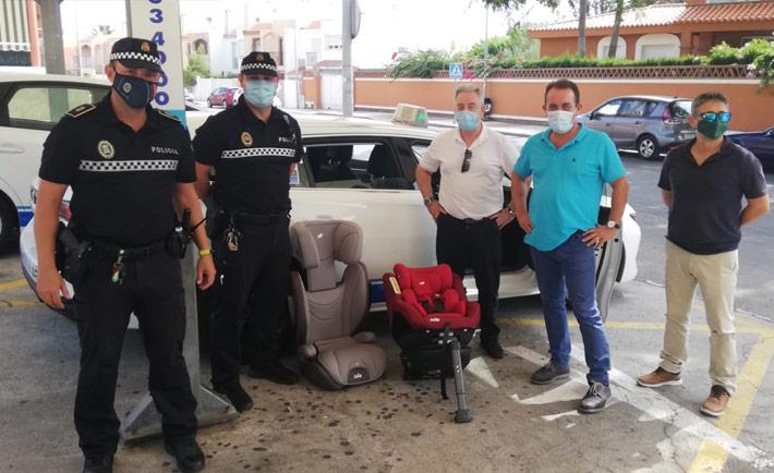 Taxis de Roquetas de Mar, premium en seguridad infantil