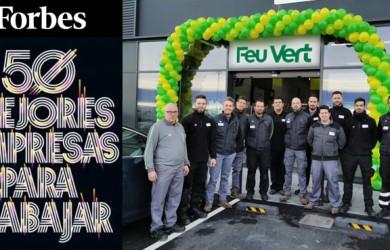 Feu Vert, única compañía del sector de la posventa y el mantenimiento de vehículos, en el Top 50 de mejores empresas para trabajar en España de Forbes