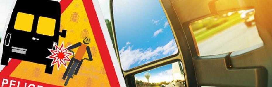 Nueva señal de advertencia de peligro de ángulos muertos en vehículos de transporte de pasajeros y mercancías
